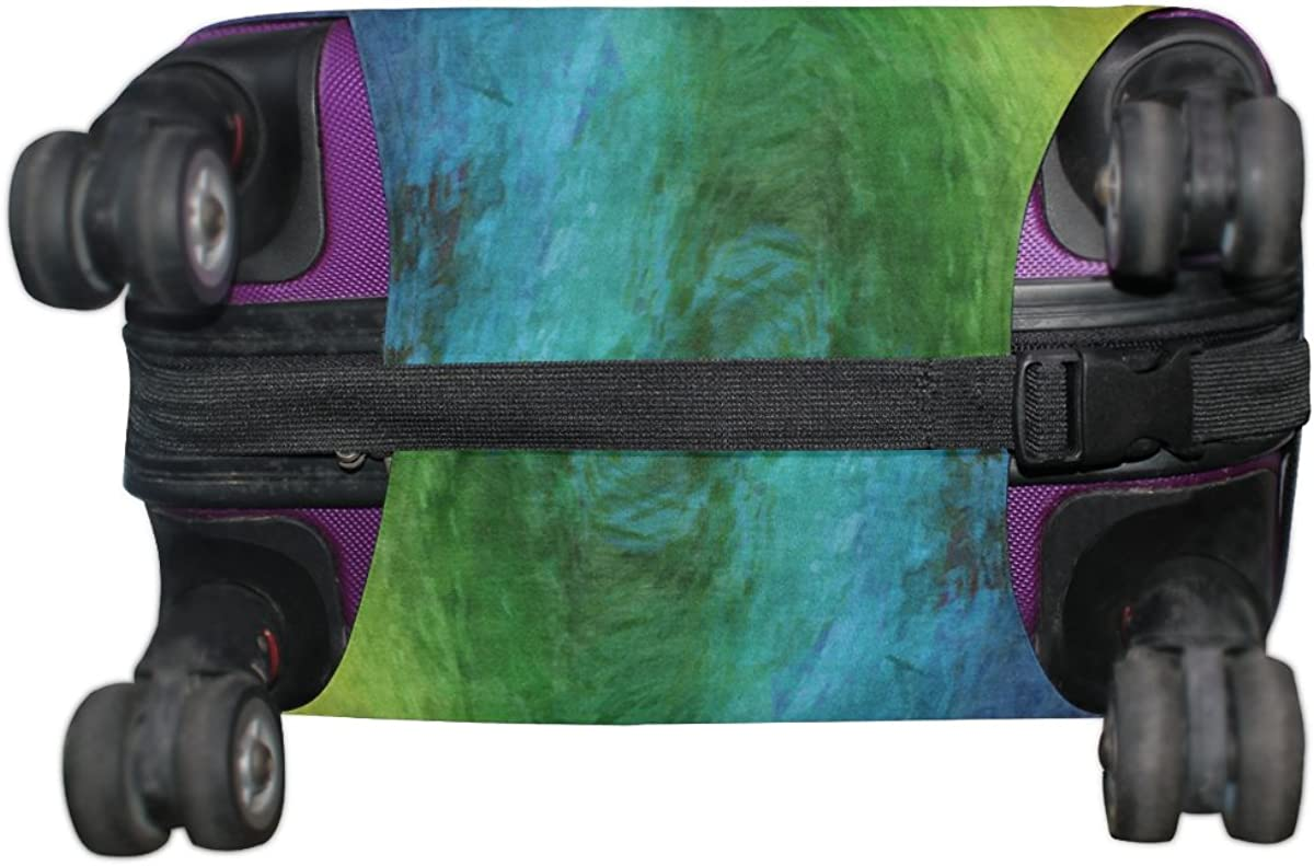 LAVOVO Rainbow Color Watercolor Luggage Cover Suitcase Protector Carry On Covers