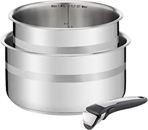 Tefal , Ingenio, Jamie Oliver, Stainless Steel, Saucepan Set, cookware, Pans