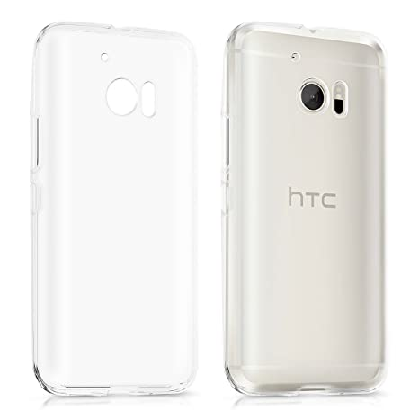 kwmobile Funda para HTC 10 - Carcasa Protectora de [TPU] para móvil - Cover [Trasero] en [Transparente]