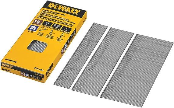 Dewalt 1-1//4 in 18 Gauge Straight Finish Brad Nail Nails 2500 X 3 Packs 7500 NEW
