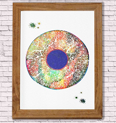 Eye Anatomy Watercolor Poster Art Print Human Iris and Pupil Structure Office Decor Medical Decor Ophthalmology Optometry Abstract Anatomy Art