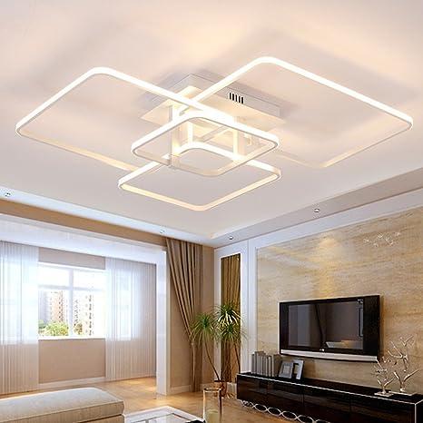 Lonfenner LED Deckenleuchte post-modernen, minimalistischen Wohnzimmer  Schlafzimmer Lampe rechteckige atmosphärischen Kunst kreative  Persönlichkeit ...