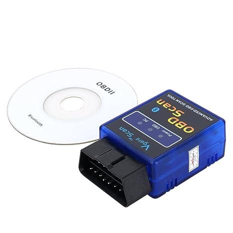 qiilu Scan V2.1 avanzada OBD2 Bluetooth funciona Android vehículo detector de instrumento de diagnóstico