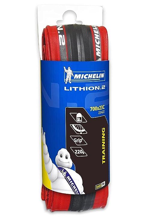 Michelin Lithion Cubierta, Deportes Y Aire Libre, Rojo, 700 x 23C ...