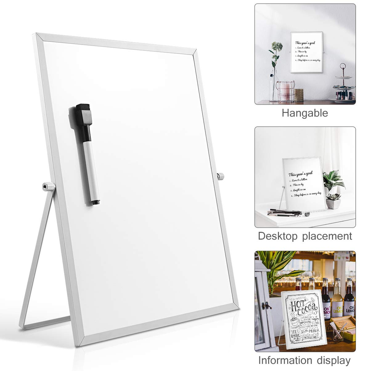 STOBOK Magnetic Whiteboard with Stand,Dry Erase Board for Home Office School