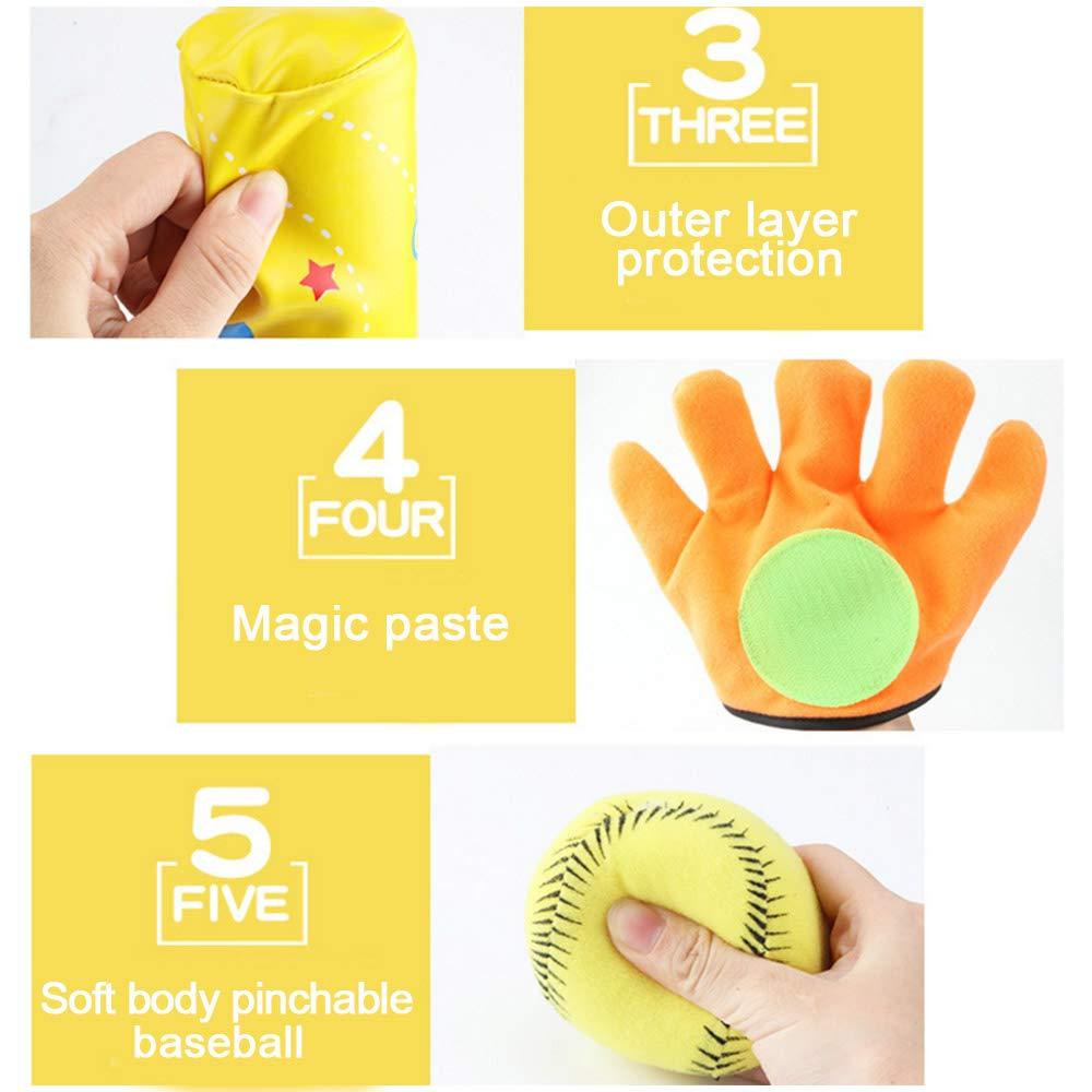 JK Sports Baseball Toys Soft Baseball Bat Ball Gloves Set for Kids Outdoor Ball Catching Game Birthday