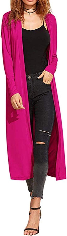 Re Tech UK Ladies Maxi Long Length Boyfriend Cardigan Collared Top Long Full Sleeve Floaty Duster Jacket Coat Blazer