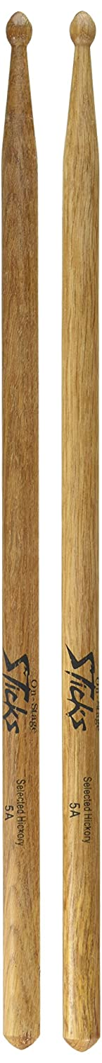 On Stage HW5A On Stage 5A Drum Sticks - 12 Pair, Wood Tip Music People