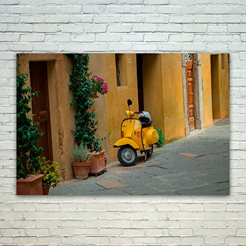Westlake Art Poster Print Wall Art - Vespa Yellow - Modern P