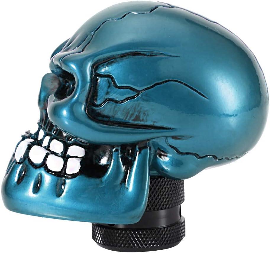 noir squelette de t/ête de mort squelette modifi/é en vitesse modifi/ée par le levier de vitesse du levier de vitesses universel Pommeaux de leviers de vitesse Levier de commande de vitesse
