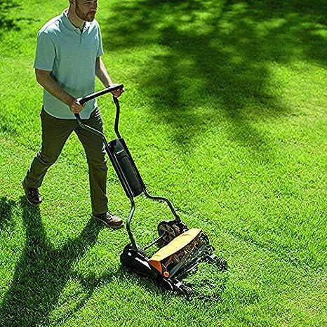 Fiskars Cortacésped Manual StaySharp Max, Ancho de corte: 46 cm, Negro/Naranja/Plata, 1000591
