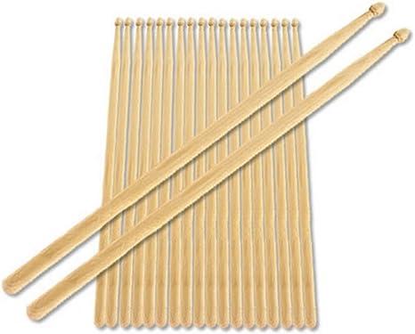 Baquetas 5B de Punta de Madera Pack de 10: Amazon.es: Instrumentos ...