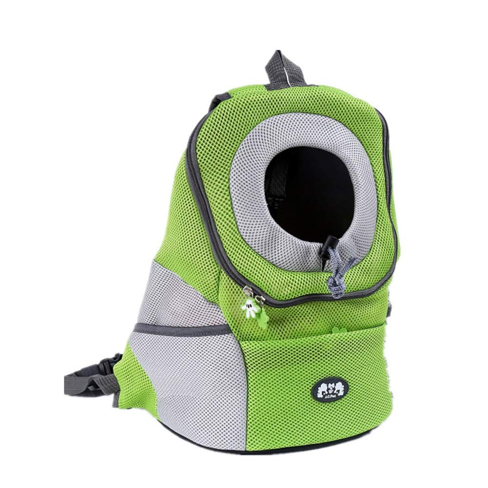 Greem M Greem M FELICIOO Fashion Pet Bag Out Backpack Pet Dog Portable Breathable Backpack (color   Greem, Size   M)