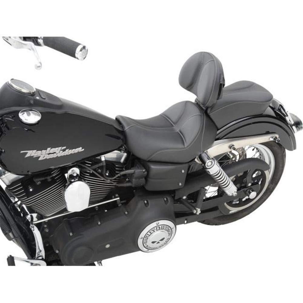 Saddlemen Dominator Solo Seat with Backrest Option Smooth SaddleHyde Motorcycle Accessories Black