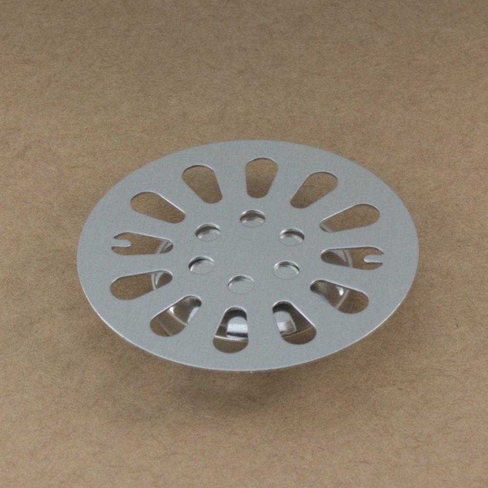 Trompete Edelstahl Bodenplatte Abfluss Abdeckung Metallteile runden Boden Abfl/üsse Deo-Abdeckung im Wasser