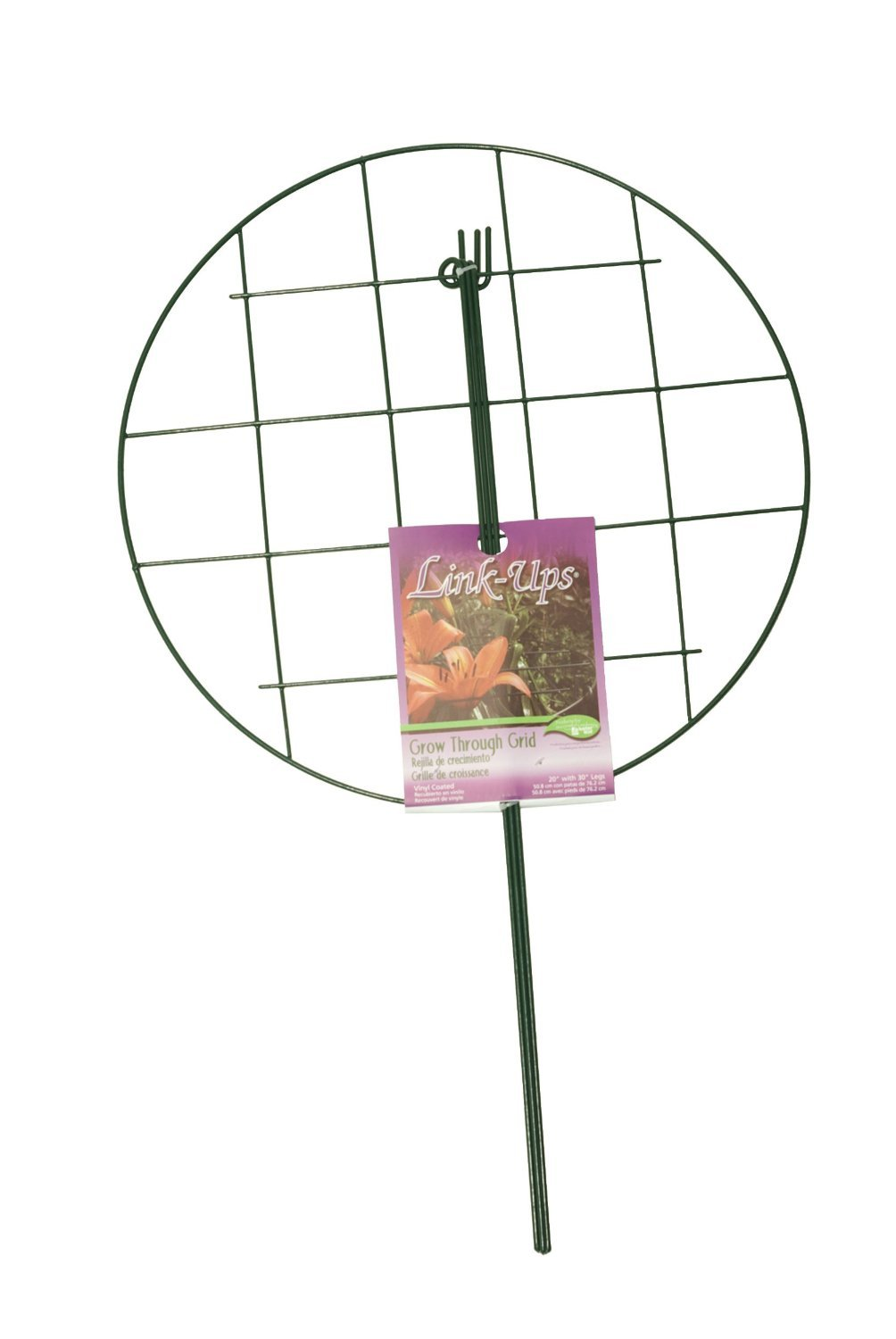 Luster Leaf 973 20'' W x 30'' T Green Grow Through Plant Support Ring - Quantity 14