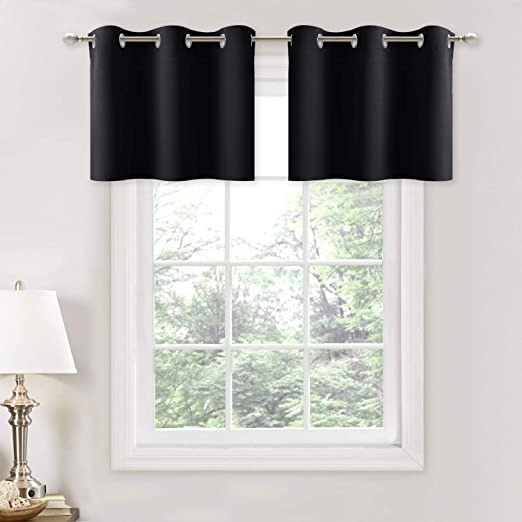 NICETOWN Small Kitchen Window Curtains Valances - Thermal Insulated on kitchen window trim ideas, window treatment design ideas, diy kitchen window treatment ideas, large kitchen window treatment ideas, modern bedroom curtain design ideas, kitchen swag valance ideas, burlap window treatment ideas, kitchen window cornice ideas, living room bay window treatment ideas, burlap curtain tie back ideas, kitchen window wood valance, kitchen window herb garden ideas, kitchen window covering ideas, kitchen valances for windows, kitchen bay window ideas, kitchen nook window treatment ideas, kitchen drapes ideas, kitchen window blinds ideas, no sew burlap curtains ideas, kitchen curtain ideas,
