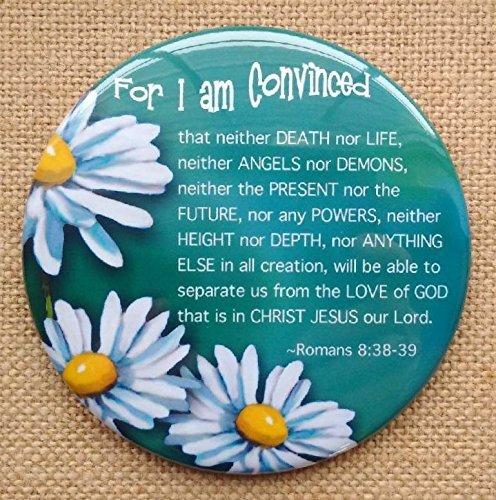 Flowers Religious Romans Scripture 3.5 Illustrated Faith Fridge Magnet Bible Passage Daisy Art