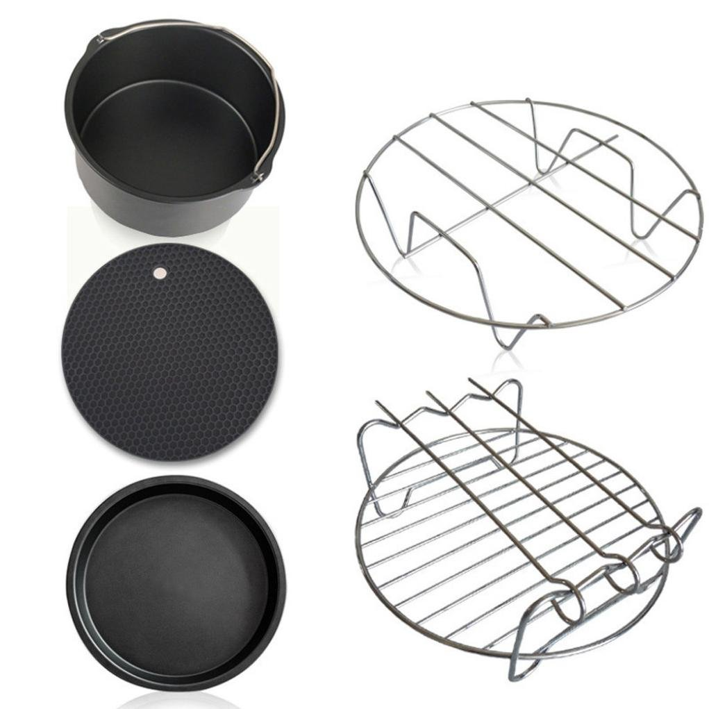 Air Fryer Accessories - Inkach Universal Air Fryer Parts Accessory Set of 5 (Black)