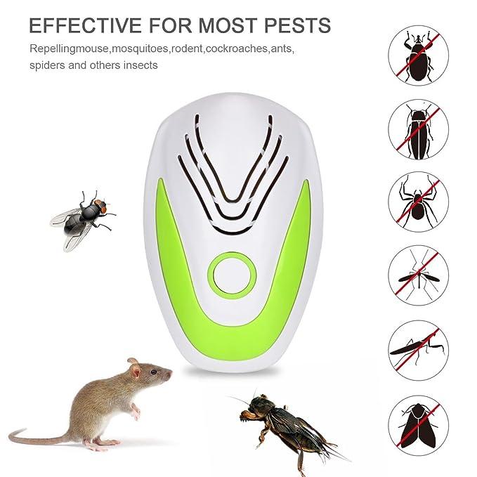 Ultrasonic Pest Repeller Control de plagas de insectos, ratones, cucarachas, Bugs, pulgas, mosquitos comprar shiming: Amazon.es: Jardín