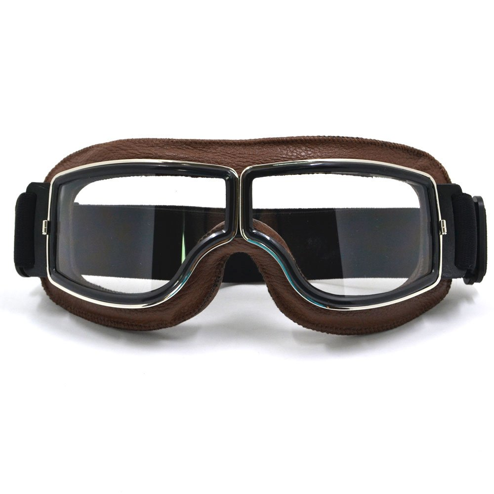 MASO Motocross Helmet Goggles Sports Sunglasses Helmet Steampunk Eyewear for Outdoor Windproof Grey
