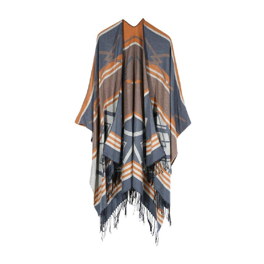 Excellent Women's Fall Winter Scarf Cloak Tassel Cape Mantle Scarf Quick Sonant Kerchief Wrap Shawl Scarves (Color : Yellow, Size : 51.1 x 59.06 Inch') by Excellent