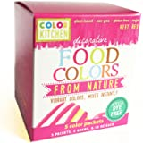"ColorKitchen Food Color Packets - 5 count ""Vibrant Color From Nature"" (Pink)"
