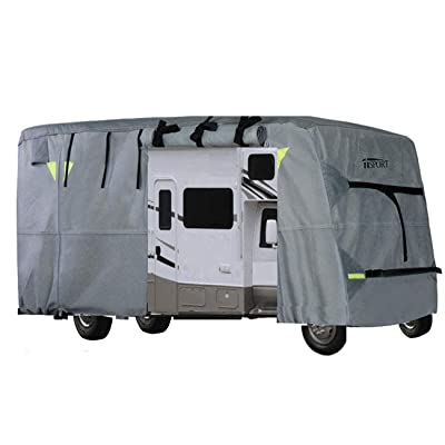iiSPORT Extra Thick 4-Ply Top Panel Class C Motorhome Cover Fits 29'-32' RVs Zippered Adjustable Rear & Front Covers with Storage Bag, Snug-fit Elastic Hem, Strap & Buckle System: Automotive