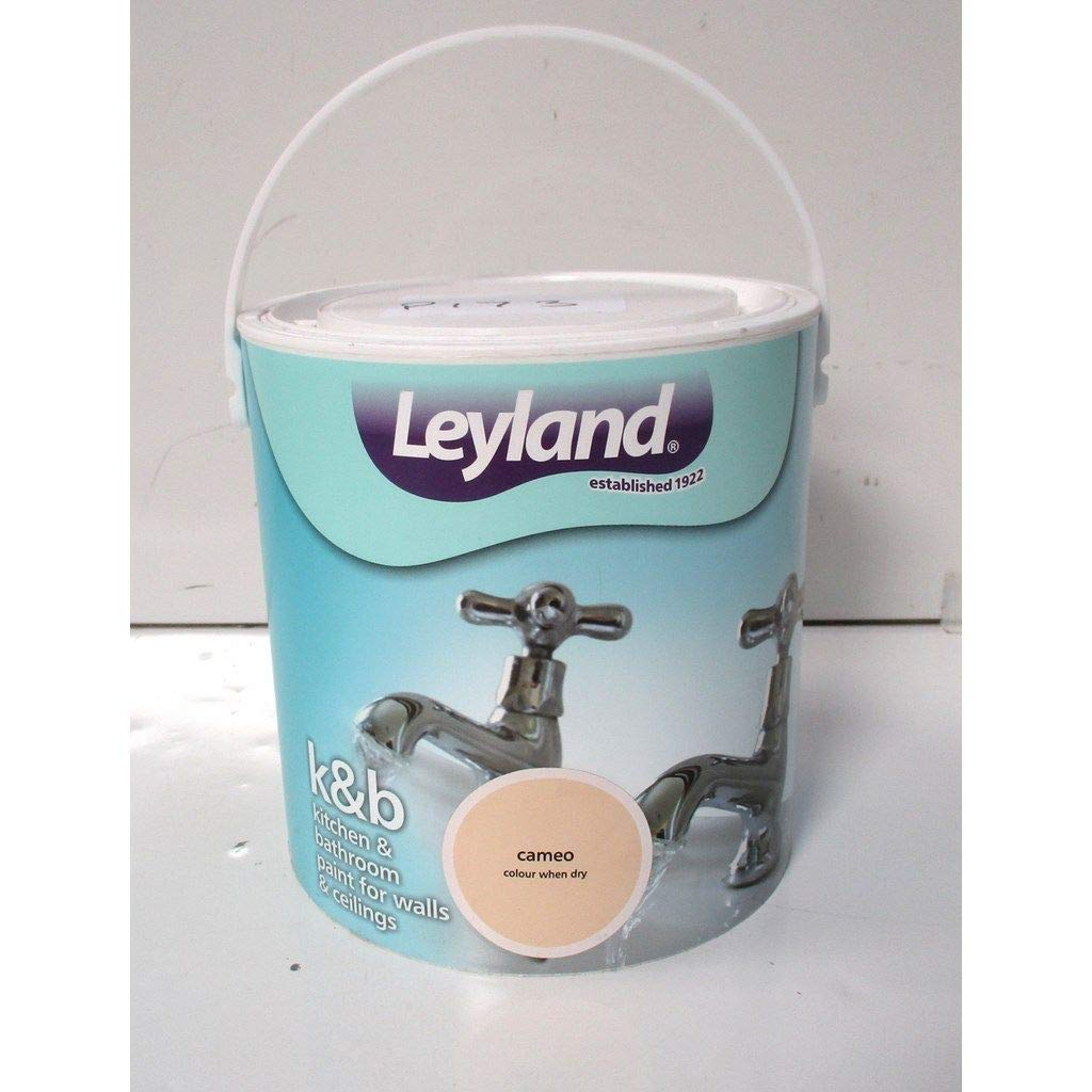 Leyland 303512 Kitchen and Bathroom Emulsion Paint, Brilliant White, 2.5 Litre