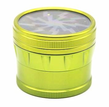 GAOWE Amoladora De Tabaco Manual Cuatro Capas De Aleación De Aluminio Transparente Herramientas De Caja De Tabaco Tabaco, Dispositivo De Fumar De Cigarrillo ...