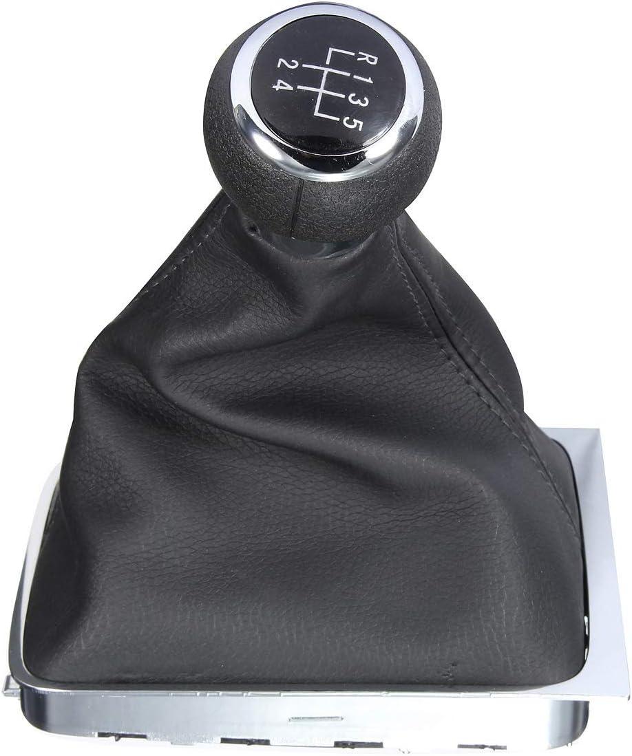 No Logo LSB-shift knob 1pc 5 Speed Manual Gear Shift Knob Stick Gaiter Boot Cover Fits For VW PASSAT B6 2005-2011 B7 2011-on CC 2009-on