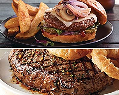 Kansas City Steaks 6 (12oz.) Seasoned Kansas City Strips, 12 (4oz.) Classic Steakburgers