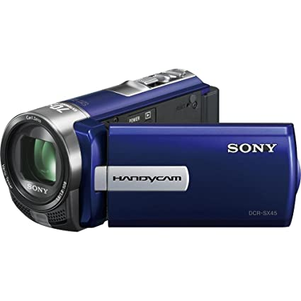 amazon com sony dcr sx45 handycam camcorder blue sony video rh amazon com sony handycam dcr-sx45 manual sony handycam dcr-sx45 manual