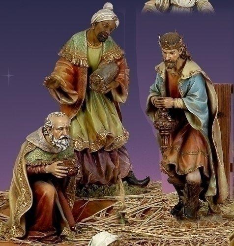 27.5 Three King Figurine Set of Three By Josephs Studio 38010 (Studio Three Josephs Kings)