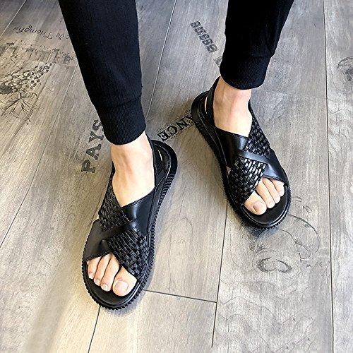 YQQ Scarpe Scarpe Lavoro Casual Da Estate Scarpe Uomo EU38 Sportive Scarpe Colore Scarpe Morbido Nero Pantofole Sandali Da Accogliente Spiaggia Maschili Da UK5 5 Fondo dimensioni Nero zqExOzr7