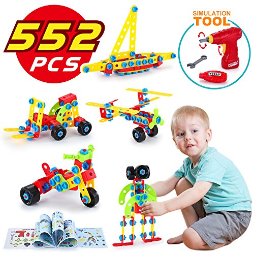 LUKAT STEM Toys, Building Blocks for Kids, Learning Construction Educational Toys for 5, 6, 7, 8, 9 Year and Older Boys and Girls, 552 pcs ()