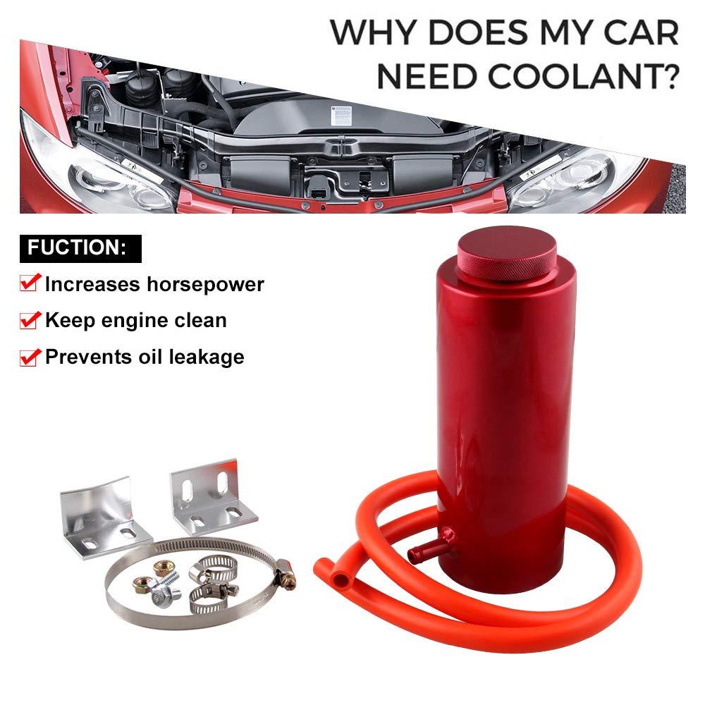 Ryanstar 800ml Car Radiator Coolant Overflow Oil Catch Tank Cooling Catch Bottle Overflow Reservoir Heatsinks Aluminum Billet Red