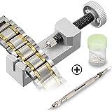 Kit de Réparation Montre Professionnel D'horlogerie, Infreecs Bracelet Lien broches Remover en Métal Watch Band Tool Réglable Accessoires set pour les Horlogers avec 3 Pins Supplémentaires (10 Pcs)
