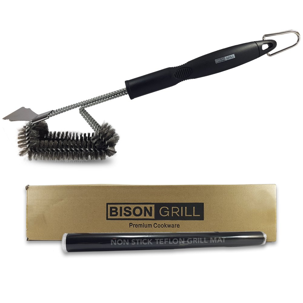 BBQ Grill Brush Wire Cleaner Tool | BISON GRILL 18