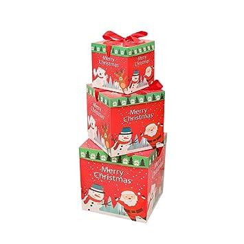 christmas gift box set jdgoods 3 pcs christmas eve gift box xmas present wrapping boxes