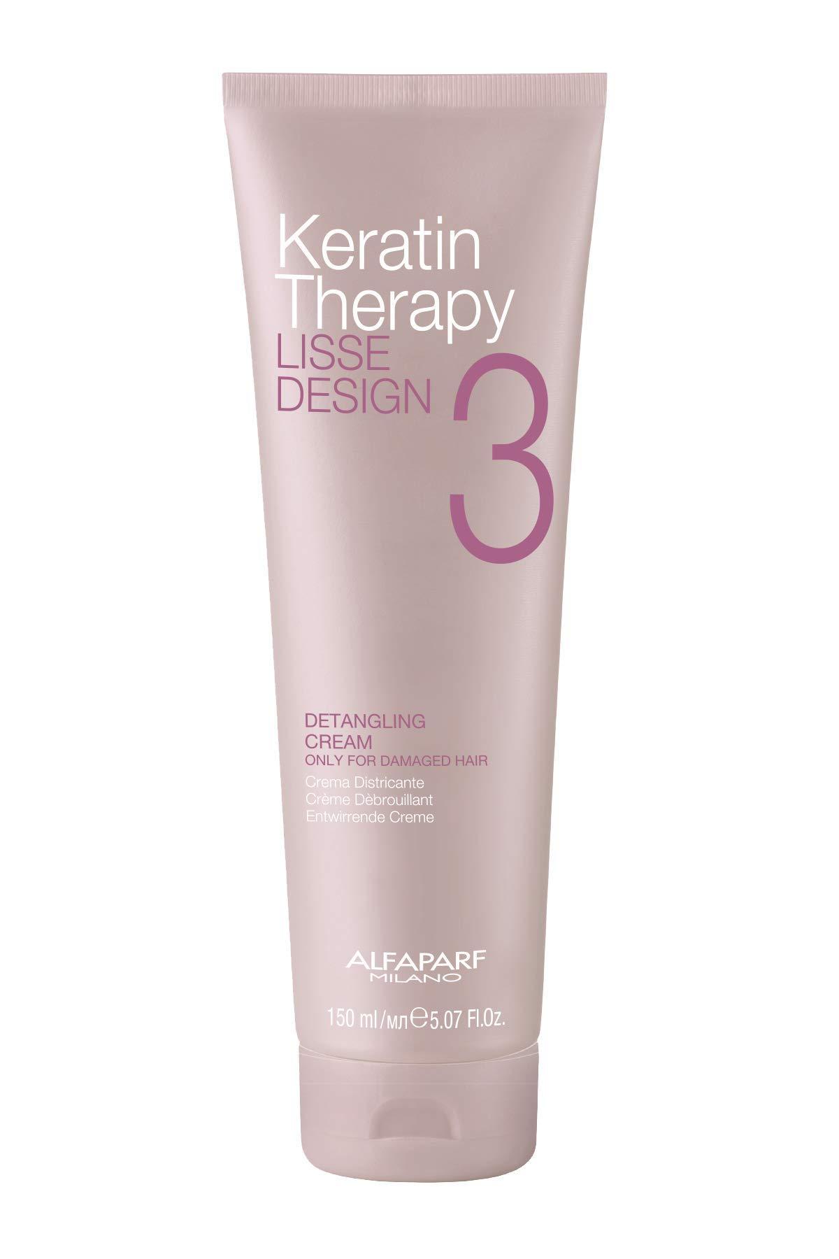 Alfaparf Milano Keratin Therapy Lisse Design Detangling Cream Maintains and Enhances Keratin Treatments Protects Against Heat Professional Salon Quality, 57 Fl Oz