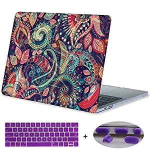 MacBook Pro 13 Case 2017 & 2016 Release A1706/A1708,Mektron Print Plastic Hard Case Shell Cover For Macbook Pro 13 Inch with/without Touch Bar,Paisley