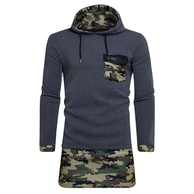FRAUIT Winterjacke Herren Männer Camouflage Hoodie Pullover Sweatshirt  Mantel Jacke mit Kapuze Sport Fitness Training Kapuzenpullover 100%  Baumwolle S-2XL  ... b5fe44364c