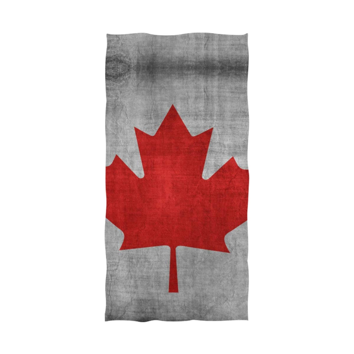 QIAOSHENG Canadian Flag Bath Towels Spa BathTowel Pool Gym Towel Beach Towel Oversized 64x32 for Girls Kids Boys Men Womens