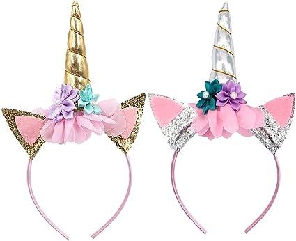 Girls Unicorn Headband White Purple Pink Cartoon Head Boppers Fancy Dress
