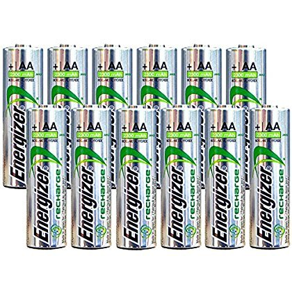 Energizer AA Rechargeable batteries NiMH 2300 mAh 1.2V NH15 - 12 Count by Energizer Batteries (Image #2)