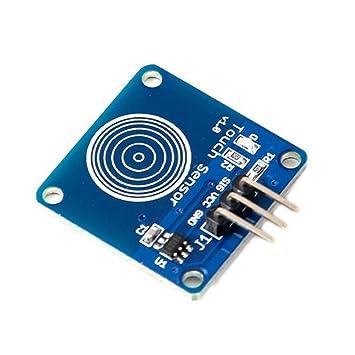 CAOLATOR 1 Canal Digital Sensor Táctil Capacitivo Toque Interruptor Módulo DIY para Arduino o Microcontroller: Amazon.es: Electrónica