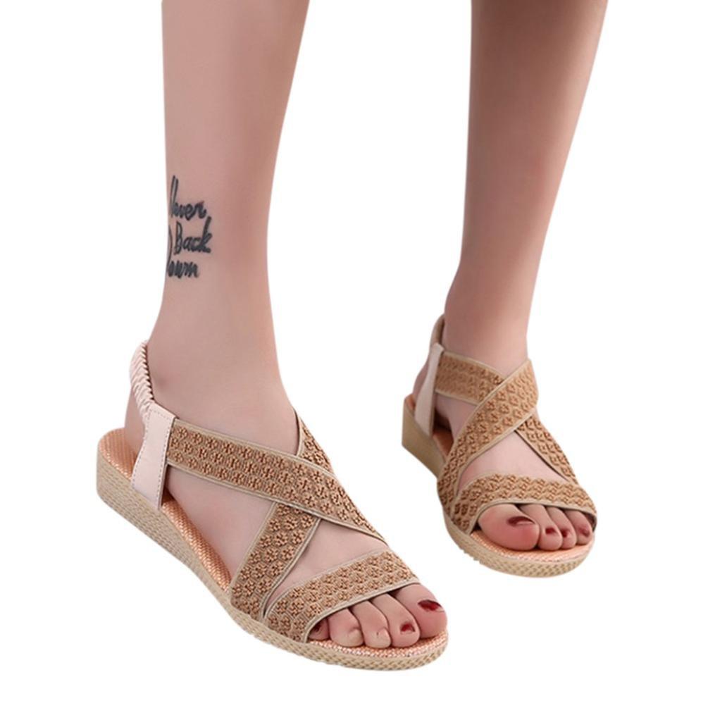 Beikoard été - Chaussure Sandales 14542 Femme,D été Romaine Dames Femmes Sandales Mode Croix Romaine Chaussures Chaussures décontractées Beige bb70710 - automatisms.space