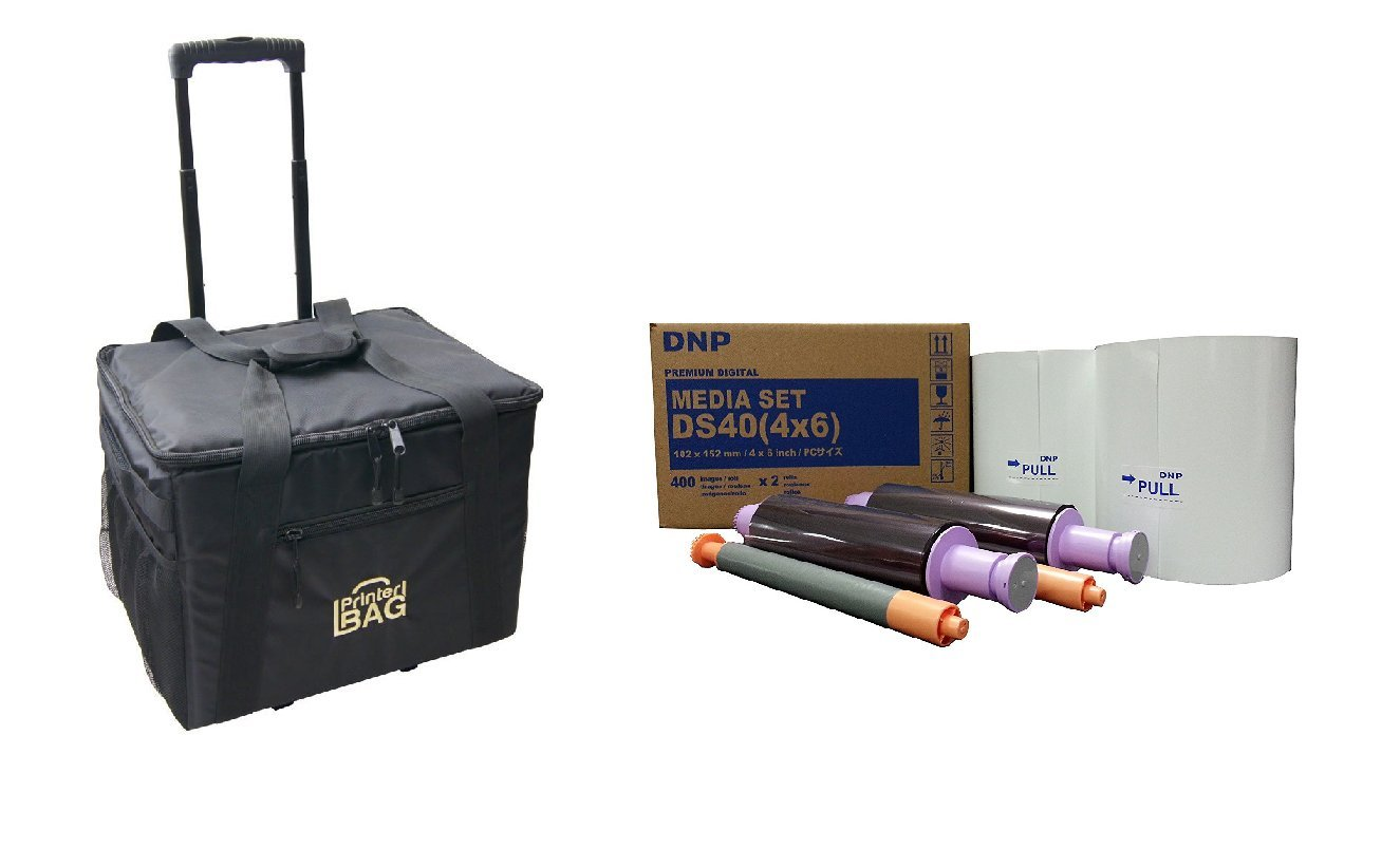 DNP Print Media 4x6'' for DS40 Printer - Paper & Ribbon - BUNDLE - with our PRINTER CARRYING CASE by DNP
