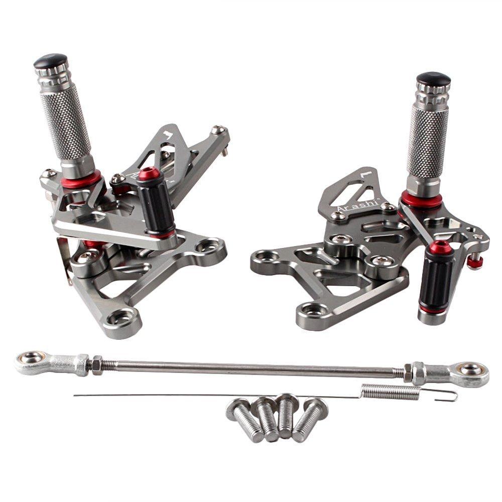 Beautyladys ホンダ バイク用バックステップキット調整式 アルミ製 CNC加工 (ホンダ Honda CBR250R 10-14年) グレー   B073FF1BF4